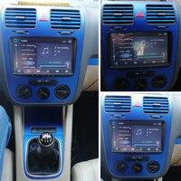 For Volkswagen VW Golf 5 GTI MK5 Interior Central Control Panel Door Handle Carbon Fiber Stickers Decals Car styling Accessorie
