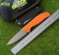 Green Thorn Hati 95 Flipper Folding Knife Bearing D2 Blade G10 Steel Handle Outdoor Camping Hunting