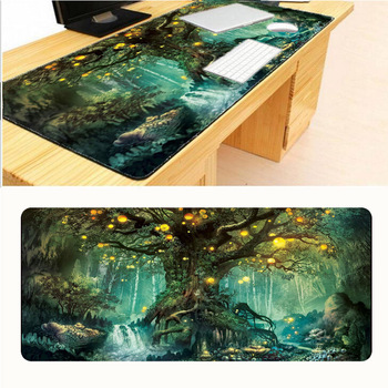 цена на Mairuige  Tree Locking Edge Mouse Pad 900x400x3mm Pad To Mouse Notbook Computer Mousepad Big Gaming Padmouse Gamer To Laptop