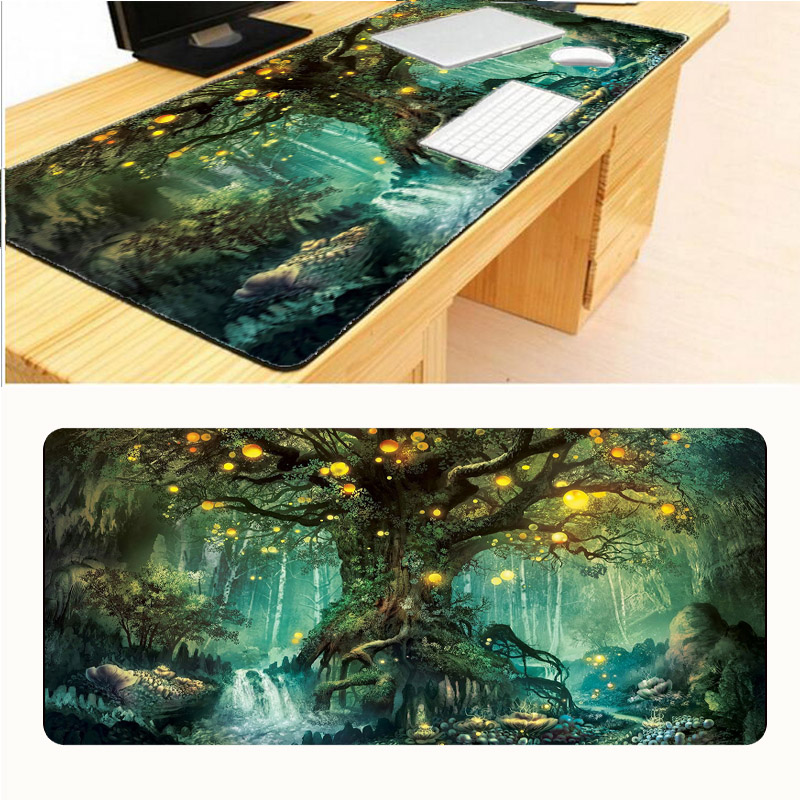 Mairuige Tree Locking Edge Mouse Pad <font><b>900x400x3mm</b></font> Pad To Mouse Notbook Computer Mousepad Big Gaming <font><b>Padmouse</b></font> Gamer To Laptop image