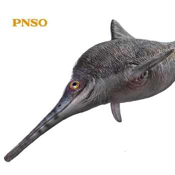 PNSO 48CM Ancient Animal Figure doll Brook the Ophthalmosaurus With Display Base Classic Toys For Boys Sea life Age Of Dinosaurs - DISCOUNT ITEM  25 OFF Toys & Hobbies