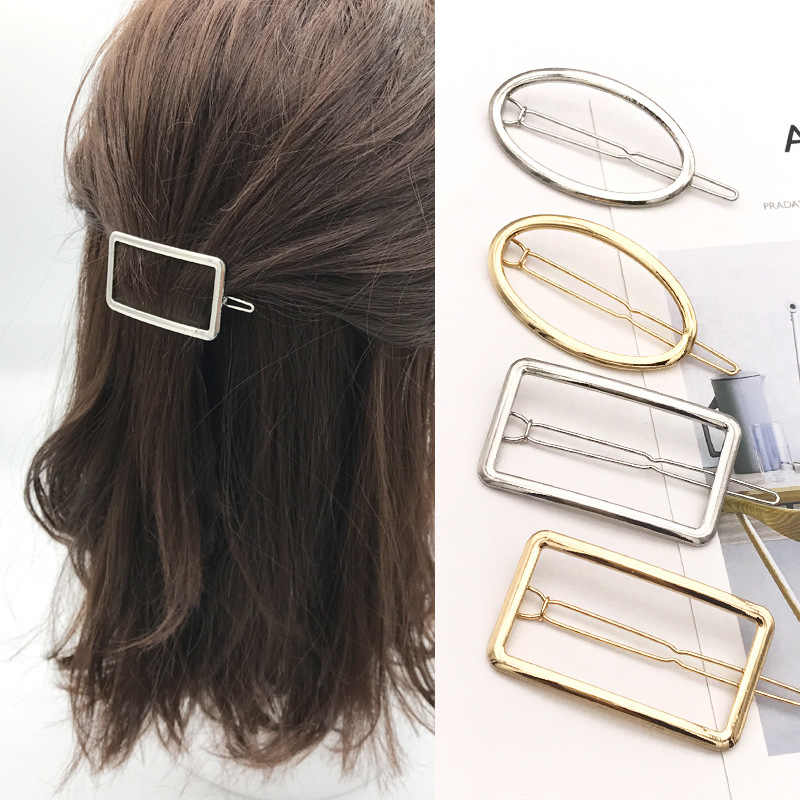 Tiara De Noiva Rushed Coroa 2018 New Alloy Square Geometric Hairpin Clip For Frog Cross-border Accessories Hair Jewelry Trendy