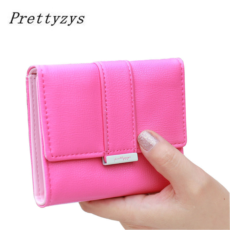 2017 Brand Designer Hasp Women Short Wallet Card Holder Coin Synthetic Leather Fashion Solid Money Wallets Purse Girls Bags 2016 brand solid fashion women leather alligator hasp long wallet coin pocket card money holder clutch purse wallets evening bag