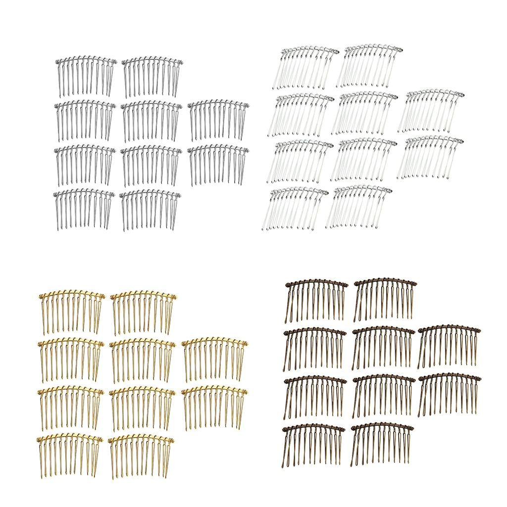 BROWN BLACK CLEAR Plastic Styling Hair Combs SLIDE SIDE or DIY craft glue on