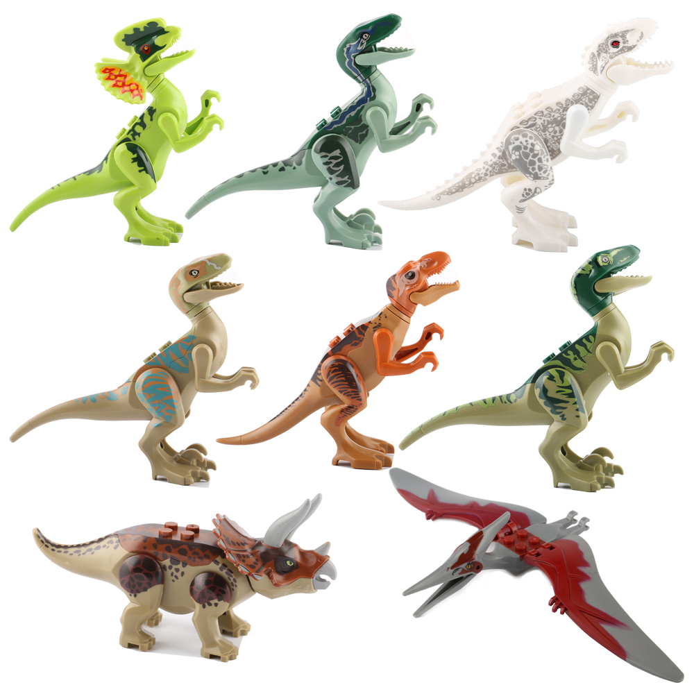 Wholesale Jurassic World Building Blocks Super Heroes Avengers Mini Dinosaur Bricks Figures Kids Toys Compatible with