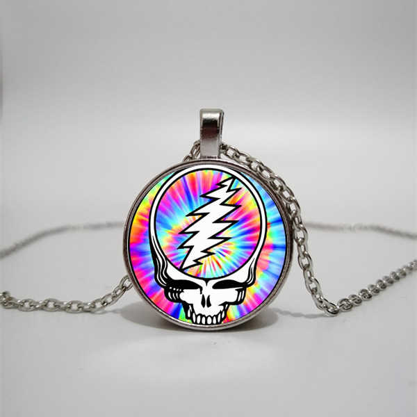 Grateful Dead necklace convex dome glass necklace music lovers pendant necklace Grateful necklace handmade custom