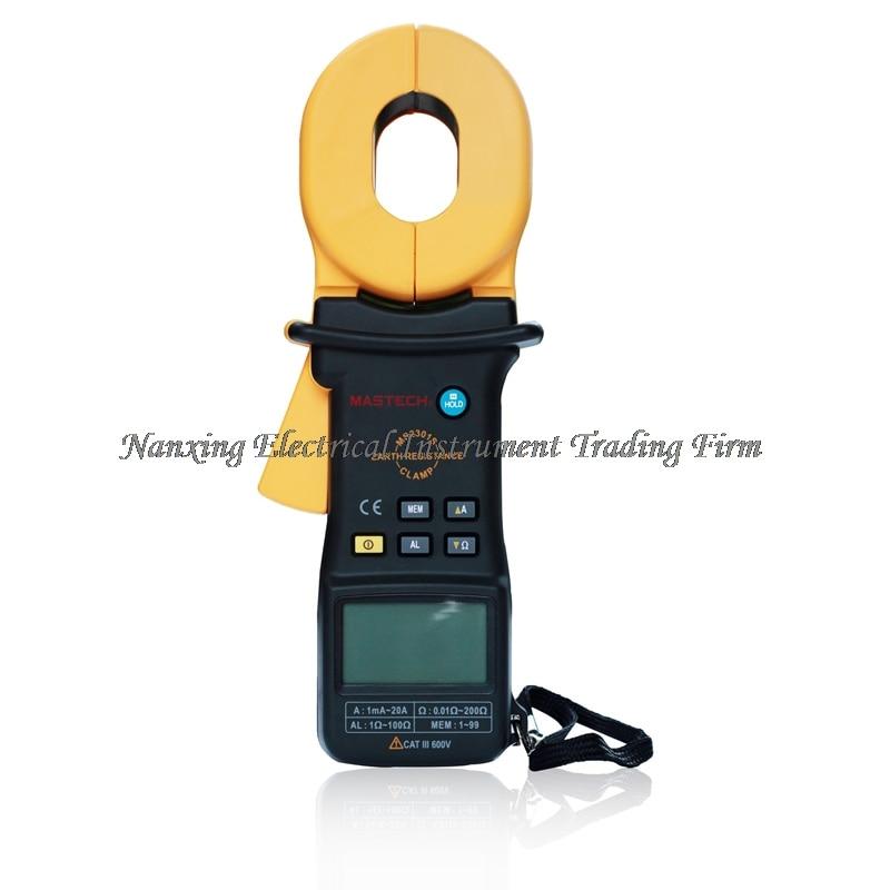 FAST SHIPMENT MASTECH MS2301S Clamp Meter Earth Ground Resistance Tester Meter / Resistance Detector / Megger / Meg Ohm Meter