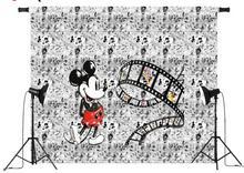 Sensfun Mickey Minnie Mus Dance Custom Photo Studio Bakgrund Bakgrund Banner Vinylväv Vintage Photocall S-2704