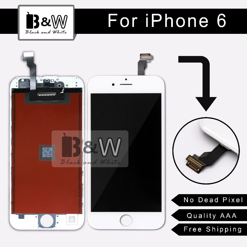 Prix pour 10 PCS/LOT Noir ou Blanc Couleur Qualité AAA LCD Affichage à L'écran Tactile Digitizer Assemblée Remplacement Pour iPhone 6 Alibaba Chine