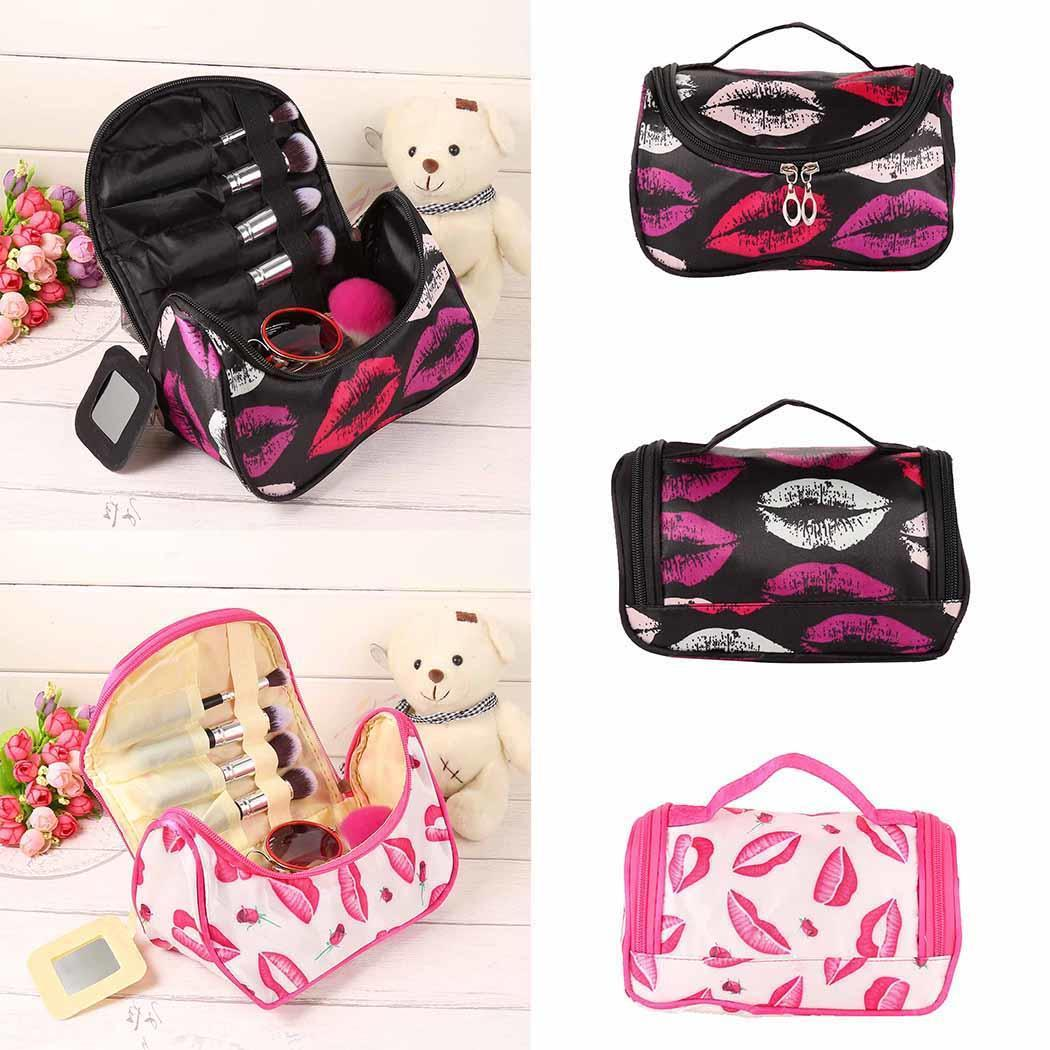 Beauty Girl 2017 Square Bow Stripe Cosmetic Bag Waterproof Zipper Cosmetic Bags Durable In Use Makeup Tools & Accessories