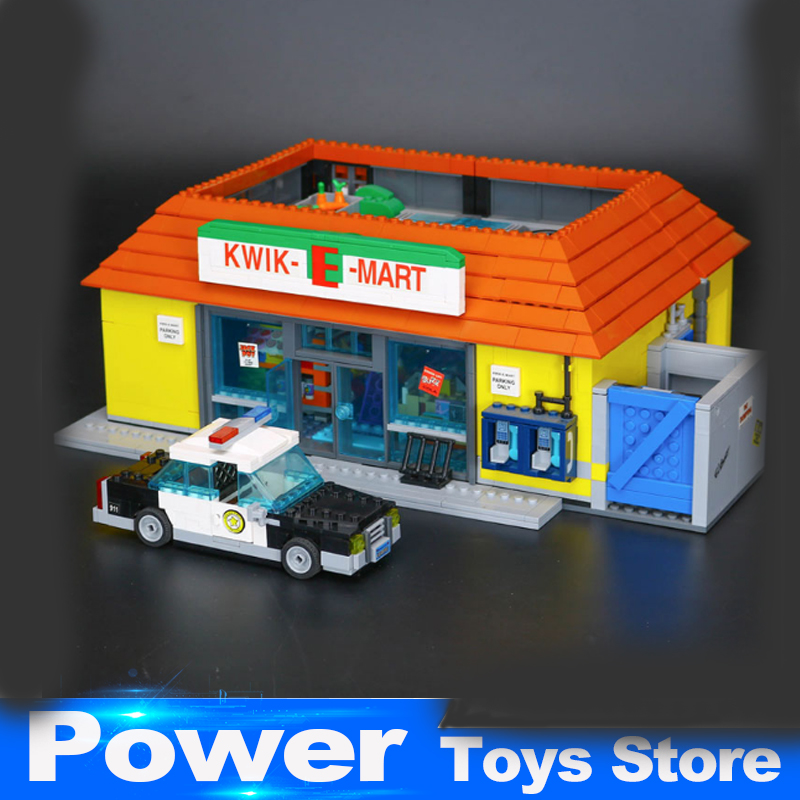 New LEPIN 16004 2232Pcs the Simpsons KWIK-E-MART Action Model Building Block Bricks Compatible 71016 Boy gift Educational Toys lepin 22001 pirate ship imperial warships model building block briks toys gift 1717pcs compatible legoed 10210