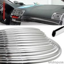 15M roll Car Style U Interior Grill Side Exterior Molding Trim Grille Impact 6mm Door Decoration Strip