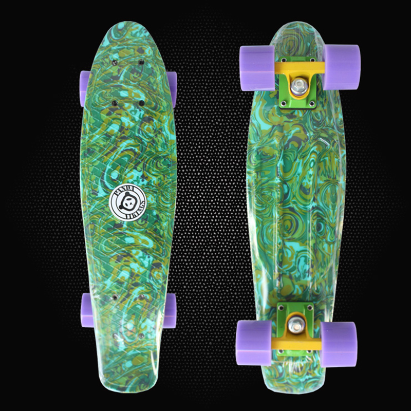 Peny Board 22 Camouflage Printed mini cruiser skateboard complete long board children's scooter skate four-wheel skates PN20 hot peny board skateboard wheels complete retro girl boy cruiser mini longboard skate fish long board skate wheel pnny board 22