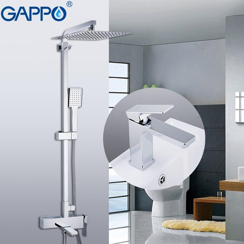 GAPPO Rubinetti Doccia in ottone acqua di rubinetto del bicromato di potassio bagno vasca da bagno rubinetto miscelatore doccia rubinetto con rubinetto del lavabo robinetterie salle de bain