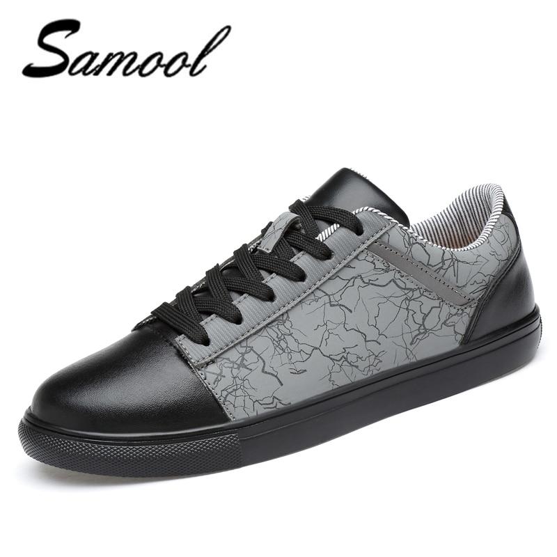 2018 spring Men Shoes Luxury Brand Leather Casual lace up Shoes Men - Men's Shoes - Photo 1