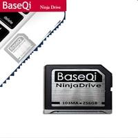 BaseQi NinjaDrive Алюминий 256 ГБ SD карты для Dell XPS 15 (9560) и Macbook air 13
