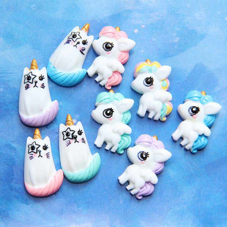 New Unicorn Charms for Slime DIY Candy Polymer Bead Filler Addition Slime Accessories Toys Lizun Modeling Clay Kit for Kids E