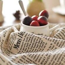 2pcs/set Kitchen Tea Towels 50*70cm Vintage  Linen English Newspaper Napkin Cotton Table cloth Cover