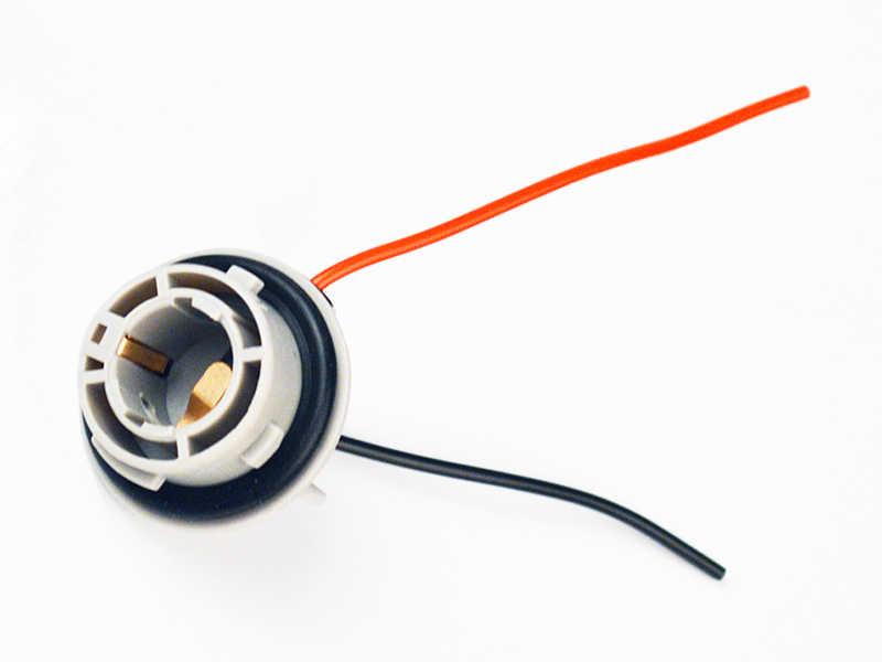 1157 BAY15D 1156 BA15S T10 T20 konektörü 10CM 380 kadın araba ışık kablosu PY21/5W otomotİv Bulb Socket LED ampuller tel