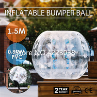 Free Shipping 1.5M PVC Infatable Bump Ball Bubble Football Body Zorb Ball Inflatable Bubble Soccer Ball for Adult Fun Games