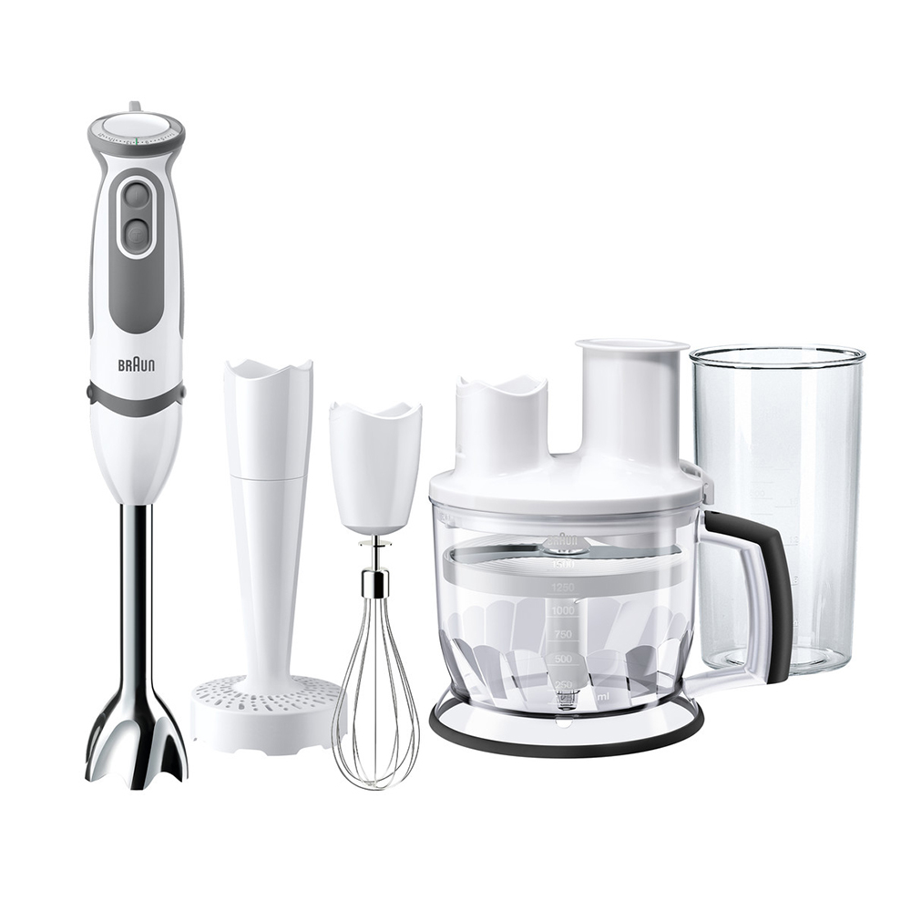 Фото - Home Appliances Kitchen Appliances Blenders braun MQ5077WH BUFFET+ mixer food processor hand blender shake juicer blender mq535 electric hand blender stick blender hand mixer with beaker