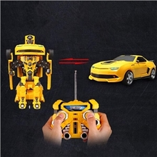 2016 Classic Boy Gift Robort Bumblebee Transformation Remote Control Car Deformation Robots truck Action Figure Rc Car VS DB012