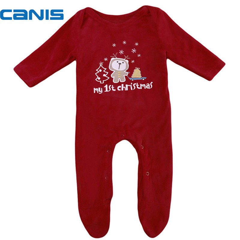 2017 Brand New Newborn Toddler Infant Baby Girls Boys Christmas Romper Long Sleeve Playsuit Clothes Santa Xmas Outfit 4pcs set baby girls clothing newborn baby clothes christmas infant jumpsuit clothes xmas bebe suits toddler romper tutu dresses