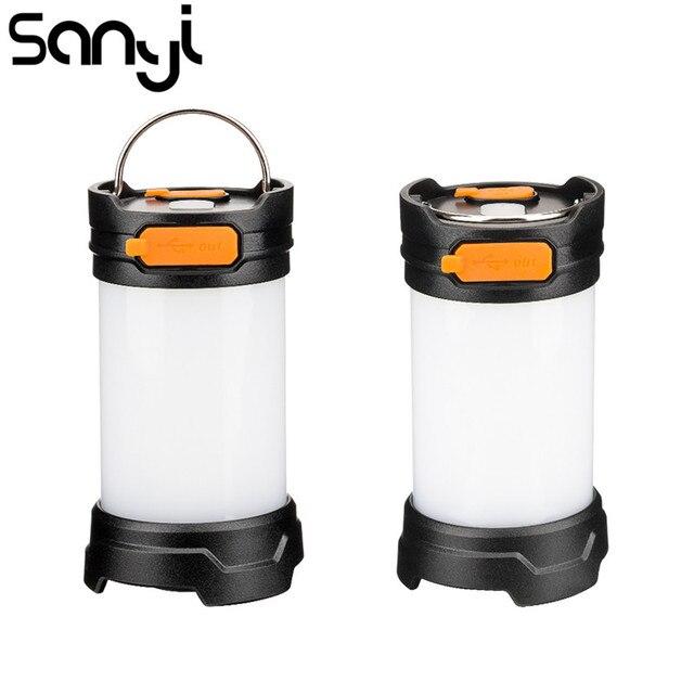 SANYI 4 режима освещения легкий противоударный Палатка лампа портативный свет зарядка через USB фонарик факел для кемпинга + USB кабель