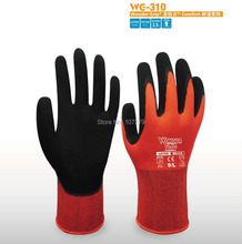 Gardening Safety Glove wonder grip 13 Guage Nylon With Latex Foam Coated Work Glove nmsafety better grip ultra thin knit latex dip nylon red latex coated work gloves luvas
