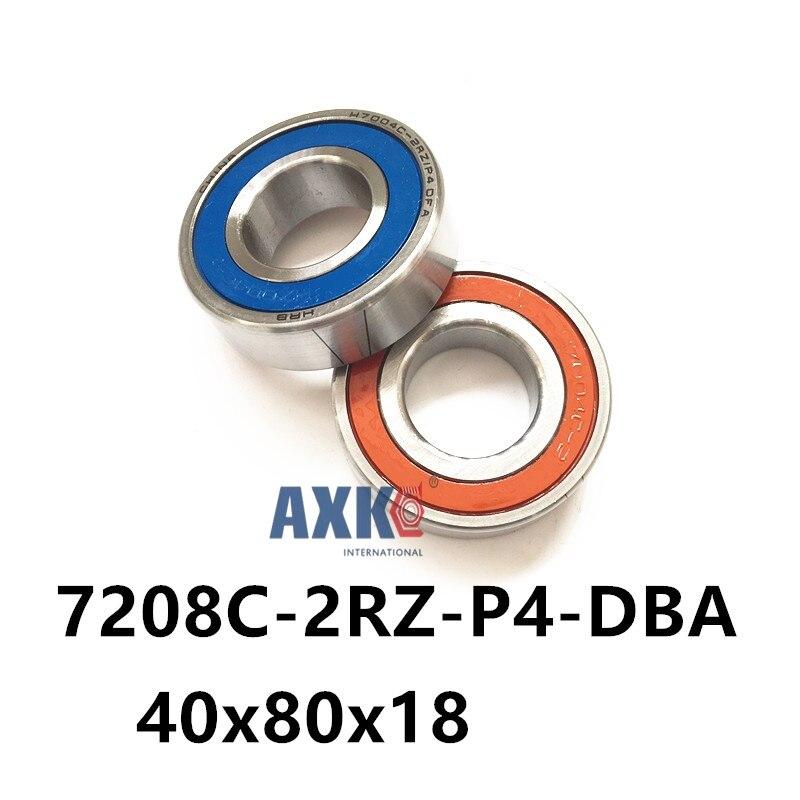 1 pair AXK 7208 7208C-2RZ-P4-DBA 40x80x18 Sealed Angular Contact Bearings Speed Spindle Bearings CNC ABEC 7 Engraving machine 1 pair mochu 7208 7208c 2rz p4 dba 40x80x18 sealed angular contact bearings speed spindle bearings cnc abec 7 engraving machine