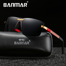 BANMAR Brand Design Polarized Sunglasses Men Rimless Luxury Brand Designer Gafas Masculino Polarizado oculos De Sol стоимость