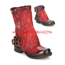 Women's Combat Boots Winter/Autum Single Boots Thick Heel Knight Leather Boots Women Retro Neutral Martin Boots Ankle Botas