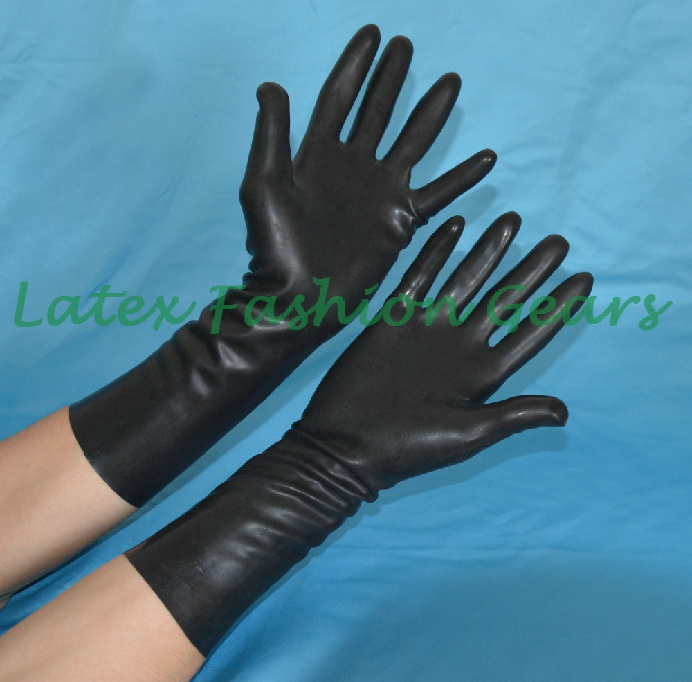 Black latex gloves xs - Black Latex Short Gloves Rubber Gloves One Size Only China Mainland