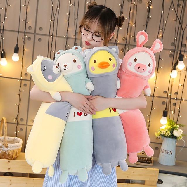 New 65/90/120cm Soft Animal Cartoon Pillow Cushion Cute Teddy Bear Pig Duck Plush Toy Stuffed Cushion Lovely Kids Birthyday Gift Uncategorized Decoration Kid's Toys Stuffed & Plush Toys Toys
