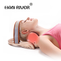 Multi functional 3D double air bag cervical massage instrument Traction Cervical physical therapy electromotor vibrates vibrator