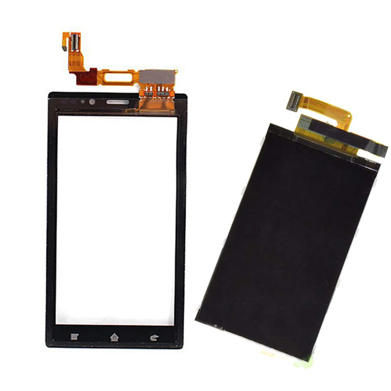 Black For Sony Xperia Sola MT27 MT27i Touch Screen Digitizer Glass + LCD Display Panel Monitor Replacement