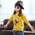 Qualidade Primavera Outono Meninas Camisolas para 2-8 Anos de Bebê Crianças Roupas de Algodão Meninos Meninas Meninos Casual Moletons Hoodies Tops
