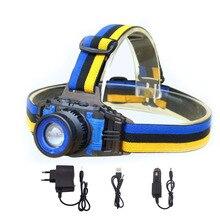 גבוהה כוח Q5 LED פנס פנס נטענת Zoomable פוקוס Frontale ראש מנורת לפיד פנס לדיג קמפינג מטען