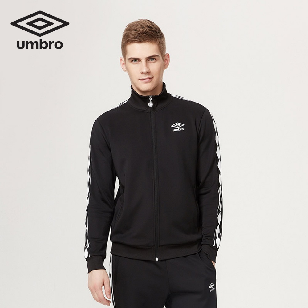 Umbro New Long Sleeved Cardigan Sweater Coat Zipper Collar Male Classic Sportswear Leisure Breathable Jacket UO173AP2403 umbro womens gym jacket zipper cardigan sport sweater baseball coat jacket stitching training zipper jacket fitness ucb63742