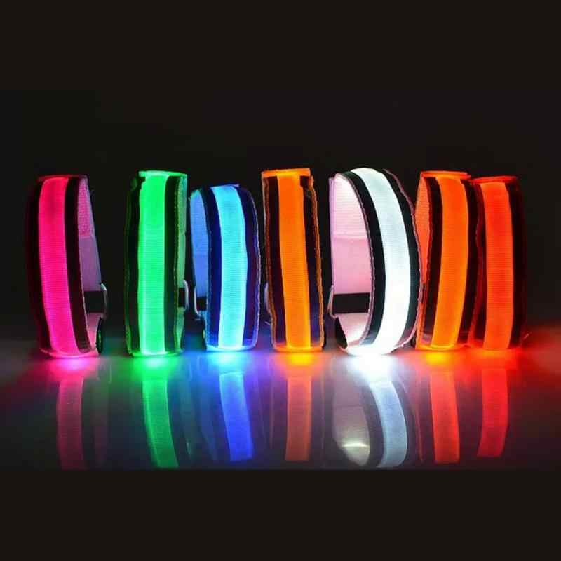Apparel Accessories Creative Arm Glow Party Supplies Glow Bangle Reflective Led Light Arm Armband Strap Safety Belt For Night Running Cycling
