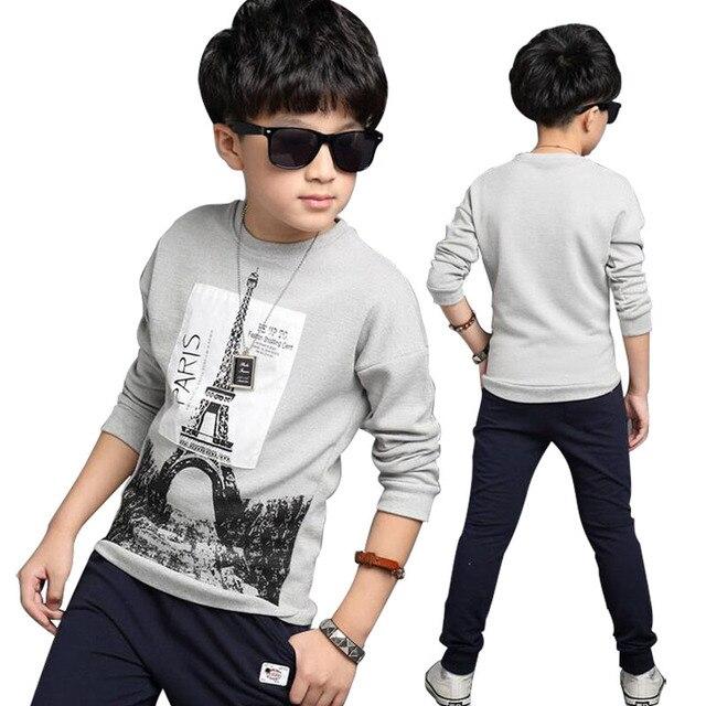 306832c52 € 10.79 36% de DESCUENTO|2019 nuevos niños camiseta niños Casual Ropa  deportiva Bebé primavera otoño última moda ropa para niños en Camisetas ...