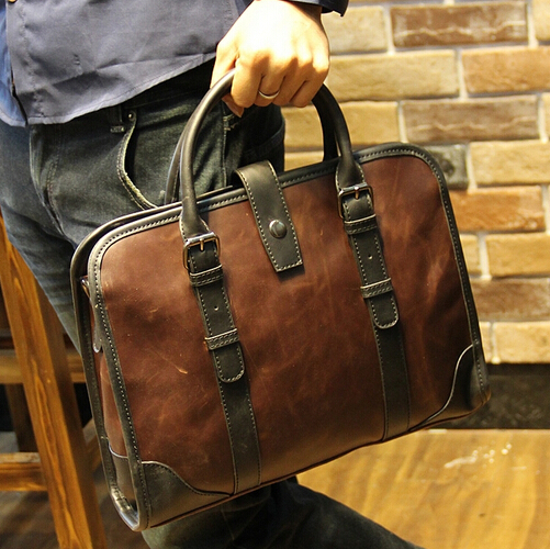c58a7d6c404ca7 Famous brand leather mens briefcase men designer handbags fashion business  portfolios man messenger bag aktentaschen B00015