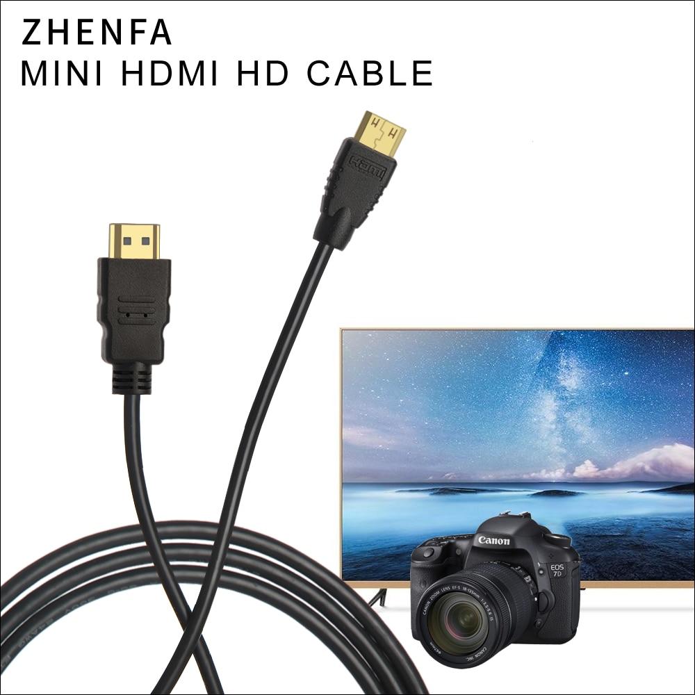 Zhenfa Mini HDMI to HDMI cable 1.5m for Canon HTC-100 EOS 60D 600D 650D 700D 1100D 5D3 5D2 5D 6D 7D T2i T1i Digital Camera сумка для видеокамеры canon dslr rebel t3i t1i t2i eos 1100d 1000d 600d 60d 5d x57