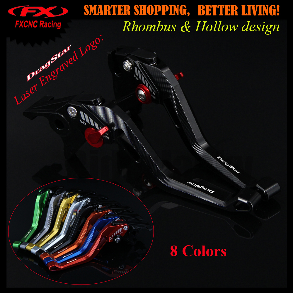 3D design (Rhombus Hollow) Black Motorcycle Adjustable CNC Brake Clutch Lever For Yamaha XVS 650 XVS650 DRAGSTAR 1997-2003 2002 6 colors cnc adjustable motorcycle brake clutch levers for yamaha yzf r6 yzfr6 1999 2004 2005 2016 2017 logo yzf r6 lever