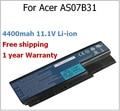 4400mah 11.1V AS07B31 laptop battery for Acer AS07B31 AS07B32 AS07B41 AS07B51 AS07B71 AS07B72 LC.BTP00.008 LC.BTP00.014 5230