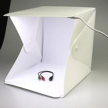 Складной мини-светильник для фотостудии для студийной фотосъемки, Настольный светильник для фотосъемки, светодиодный светильник, софтбокс