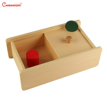 Wooden Sensory Toys Box with Sliding Lid Attention Practice Game Baby Boy 0-3 Years Home Educational Toy Montessori wooden sensory toys box with sliding lid attention practice game baby boy 0 3 years home educational toy montessori