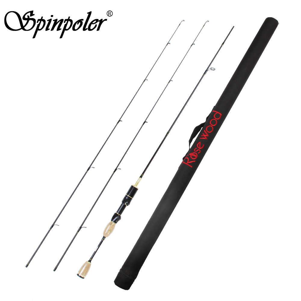 Spinpoler 1.8 متر لينة الصب الغزل إغراء قصبة الصيد القطب قصب 0.8-5 جرام ، 2-5LB ألياف الكربون خفيفة للغاية تدور قضيب