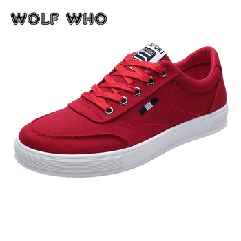 WOLF WHO Men shoes Breathable soft Man canvas casual shoes Male Sneakers Ultralight Lace Up Plimsolls Krasovki buty meskie X-020