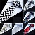 (10 pçs/lote) Laços para homens Skinny Auto Gravata para o Negócio De Impressão de Poliéster Festa de Casamento gravata 5 cm largura
